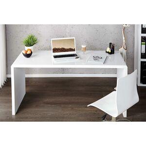 LuxD Kancelársky stôl Barter 140cm biely vysoký lesk 140 cm x 75 cm