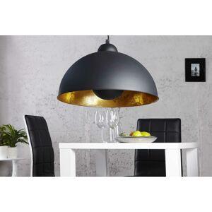 LuxD 16766 Lampa Atelier čierno-zlatá závesné svietidlo