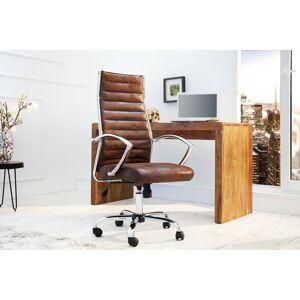 LuxD Kancelárska stolička Boss Vintage hnedá