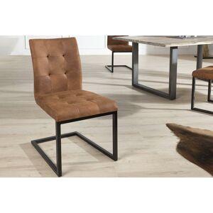 LuxD 18233 Jedálenská stolička vintage English hnedá