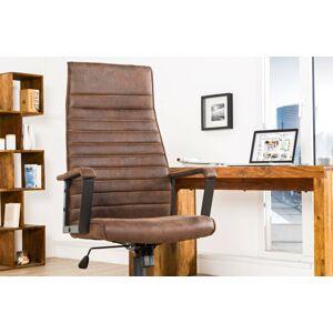 LuxD Kancelárska stolička Roma Vintage hnedá 125cm - Otvorené balenie - RP