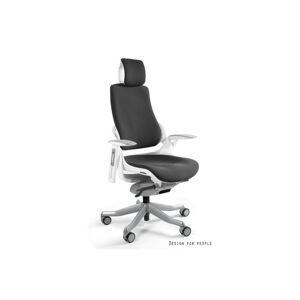 Meble PL Kancelárska stolička Wanda biely podklad tkanina čierna
