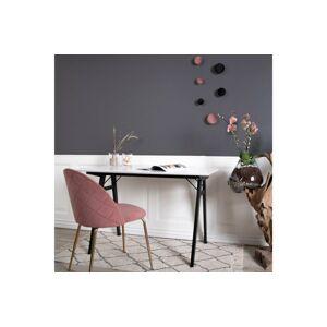 Norddan 24489 Dizajnová stolička Ernesto, ružová / mosadz