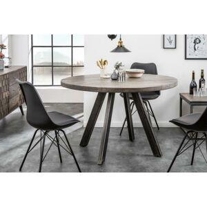 LuxD Okrúhly jedálenský stôl Thunder, 120 cm, sivé mango