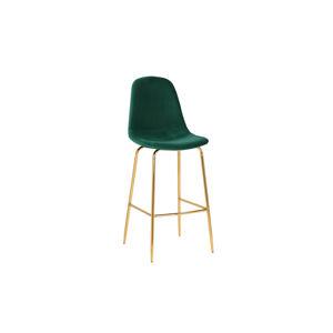 LuxD Barová stolička Sweden tmavozelená - zlatá