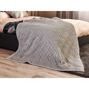 Prehoz na posteľ Black Diamond Dormeo, 220x240 cm, sivá