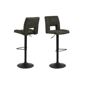 Dkton Dizajnová barová stolička Almonzo, olivovo zelená
