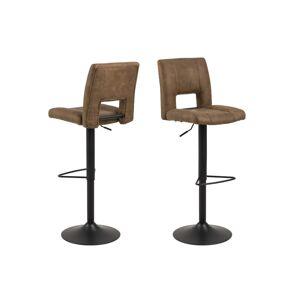 Dkton Dizajnová barová stolička Almonzo, svetlohnedá / čierna