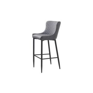 Furniria Dizajnová barová stolička Hallie sivá