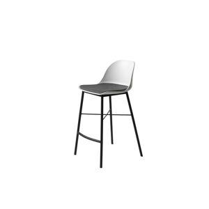 Furniria Dizajnová barová stolička Jeffery biela