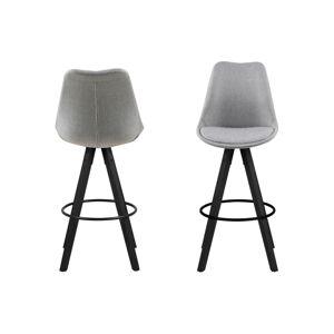 Dkton Dizajnová barová stolička Nascha, svetlo šedá-čierna