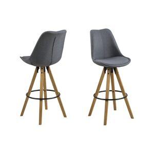 Dkton Dizajnová barová stolička Nascha, tmavo šedá