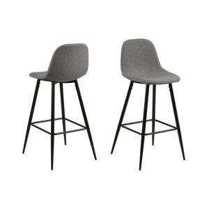 Dkton Dizajnová barová stolička Nayeli, svetlo šedá a čierna