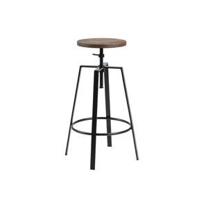 Dkton Dizajnová barová stolička Nephele, čierna