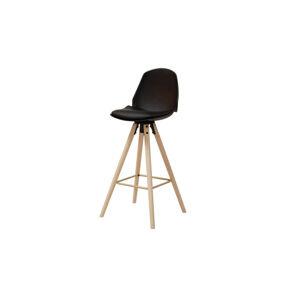 Dkton Dizajnová barová stolička Nerea, čierna