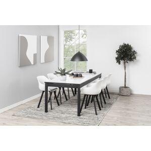 Dkton 23676 Dizajnová jedálenská stolička Alphonse, biela / čierna