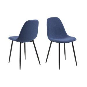 Dkton 23687 Dizajnová jedálenská stolička Alphonsus, modrá
