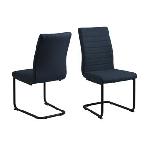 Dkton 25280 Dizajnová jedálenská stolička Daitaro tmavomodrá / čierna