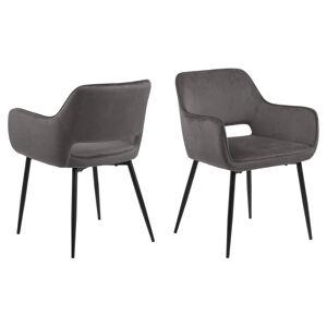 Dkton 23618 Dizajnová jedálenska stolička Nereida, tmavo šedá