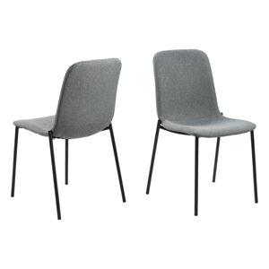 Dkton 23700 Dizajnová jedálenská stolička Nerissa, svetlo šedá