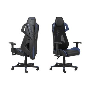 Dkton Dizajnová kancelárska stolička Nathalia, čierna-modrá