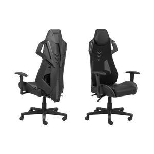 Dkton Dizajnová kancelárska stolička Nathalia, čierna-šedá
