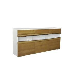 LuxD Dizajnová komoda Kira 180 cm dub - biely