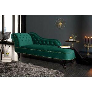 LuxD Dizajnová leňoška Chesterfield zelený zamat
