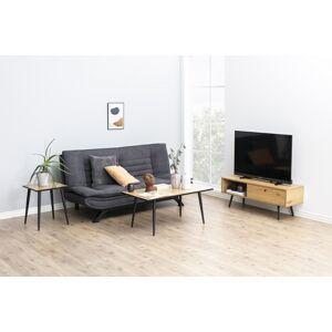 Dkton Dizajnová rozkladacia sedačka Alun, 196 cm, tmavosivá