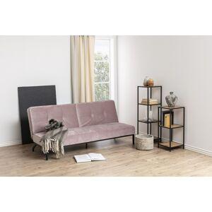 Dkton Dizajnová rozkladacia sedačka Amadeo, 198 cm, ružová
