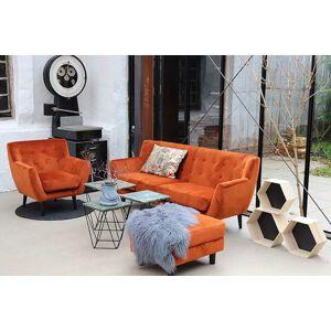 Norddan Dizajnová sedačka Aaliyah oranžový zamat