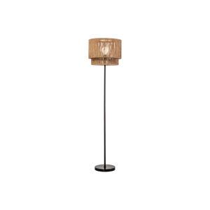 LuxD 24300 Dizajnová stojanová lampa Desmond 150 cm papierový ratan Stojanové svietidlo