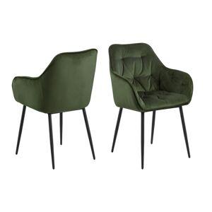 Dkton 23320 Dizajnová stolička Alarik, zelená