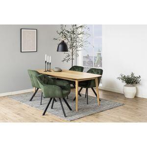 Dkton 23456 Dizajnová stolička Aletris, lesnícka zelená