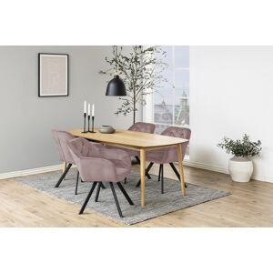 Dkton 23458 Dizajnová stolička Aletris, ružová