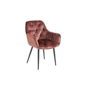 LuxD 25487 Dizajnová stolička Garold hnedý zamat