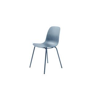 Furniria 24076 Dizajnová stolička Jensen matná modrá