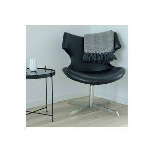 Norddan 24355 Dizajnová stolička Khloe, čierna koženka