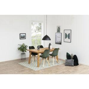 Dkton 23405 Dizajnová stolička Nascha, lesno zelená