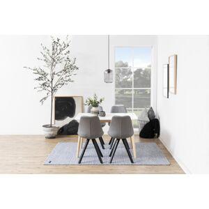 Dkton 23397 Dizajnová stolička Nascha, svetlo šedá-čierna