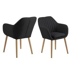Dkton 23426 Dizajnová stolička Nashira, tmavá antracitová