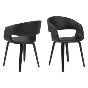 Dkton 23577 Dizajnová stolička Nere, čierna-topoľ