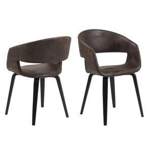 Dkton 24659 Dizajnová stolička Nere, hnedá - Otvorené balenie - RP