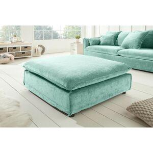 LuxD Dizajnová taburetka Eden 110 cm aqua modrá / zamat