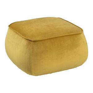 Dkton Dizajnová taburetka Nara, žltá kocka