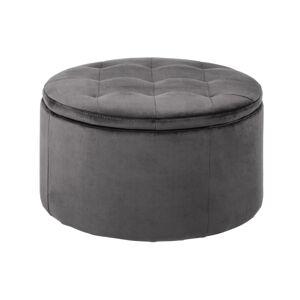 Dkton Dizajnová taburetka Nasima, tmavo šedá