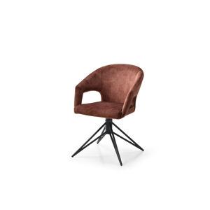 LuxD 24193 Dizajnová otočná stolička Age hnedý zamat