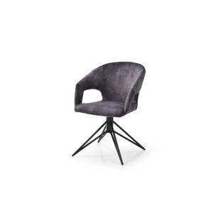 LuxD 24196 Dizajnová otočná stolička Age sivý zamat