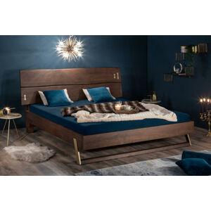 LuxD Dizajnová posteľ Massive 160 x 200 cm akácia vinegar
