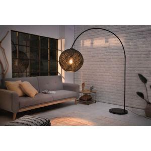 LuxD 24902 Dizajnová stojanová lampa Omari 205 čierna Stojanové svietidlo